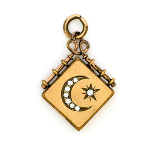 Moon and Star Square Locket