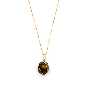 Antique 8K Gold Cat's Eye Charm