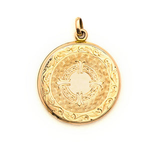 Larger Double Wreath Coin Locket