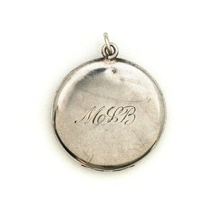 Silver Lady of the Water Lilies Locket