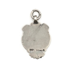 Antique English Sterling Silver Shield Charm