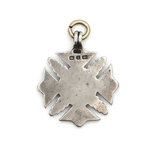 Antique 1848 English Sterling Silver Medal Charm