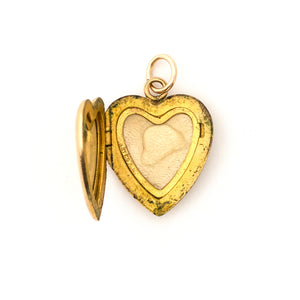 Pinstripe Heart Locket