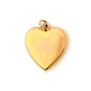 Antique Wildflower Heart Pendant