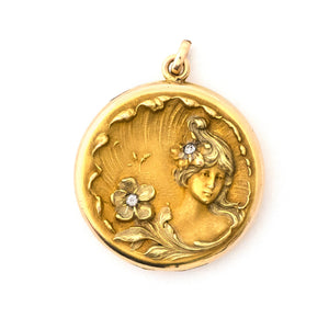 Forget Me Not Portrait Locket