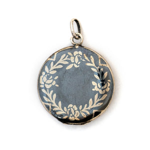 Rose Wreath Niello Locket