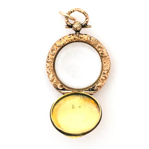 9K Gold Portrait Locket