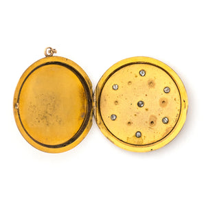 10k Gold & Diamond Starry Night Locket