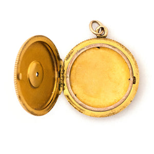 12k Gold & Diamond Starburst Locket