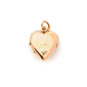 14K Rose Gold Victorian Pearl Heart Locket