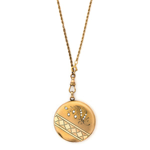 Lily of the Valley Geometric Locket