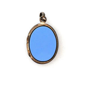 Periwinkle Agate Locket