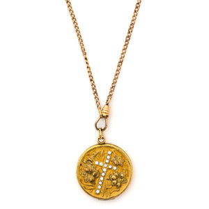 Lilies Cross Locket