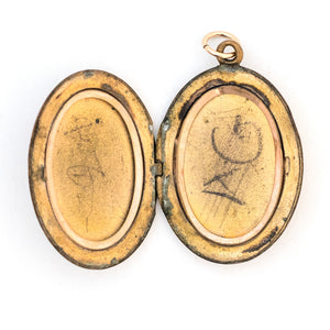 Oval Pansy Locket