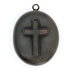 Gutta Percha Cross Locket