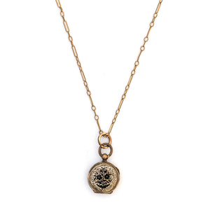 Petite Forget Me Not Enamel Locket