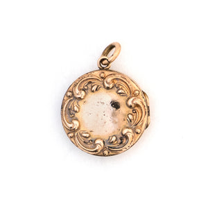 Rosy Scroll Locket