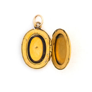 Oval Starburst Locket
