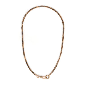 14K Rose Gold Curb Watch Chain