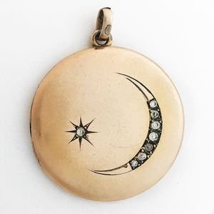 Crescent Moon & Star Locket