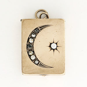 Rectangular Moon & Star Locket
