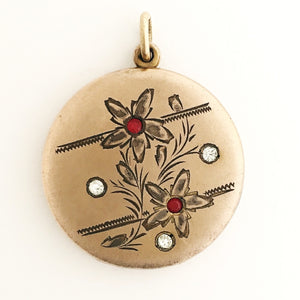 Forget Me Not Antique Locket