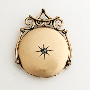 Diamond North Star Embellished Antique Locket