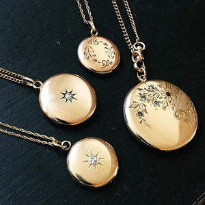 Floral Cluster Antique Locket