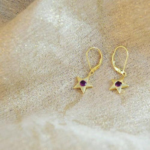 Star Birthstone Earrings