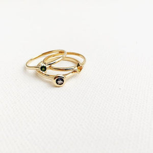 North Star Stacking Birthstone Rings - Sterling Silver
