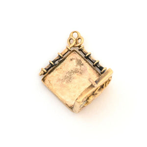 10K Art Nouveau Elk Locket