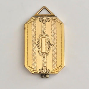 Embellished Stripe Rectangular Locket