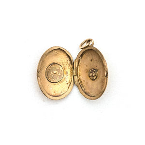 Petite Oval Star Locket