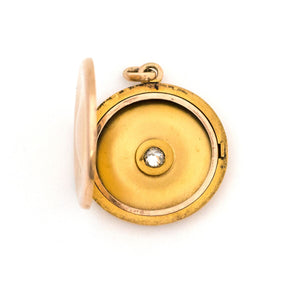 10K Gold & Diamond Mirror Locket