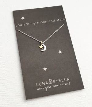 You are my moon and stars necklace