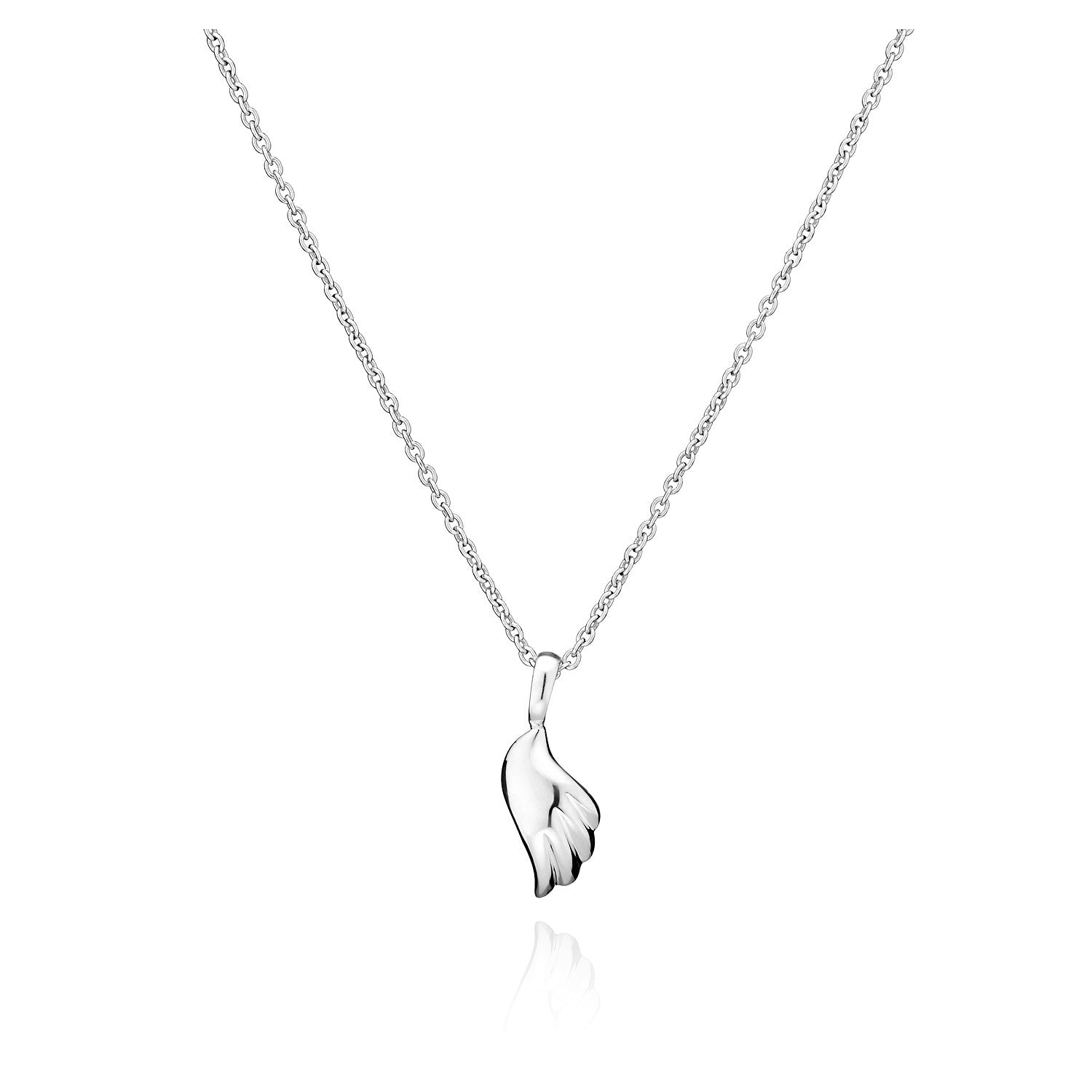 sterling necklace fine wing product inch angel chain angelwing silver with