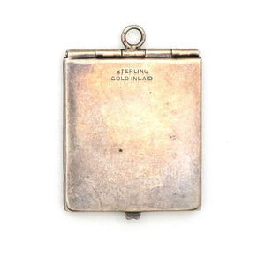 Bi-Metal Pinstripe Rectangle Locket