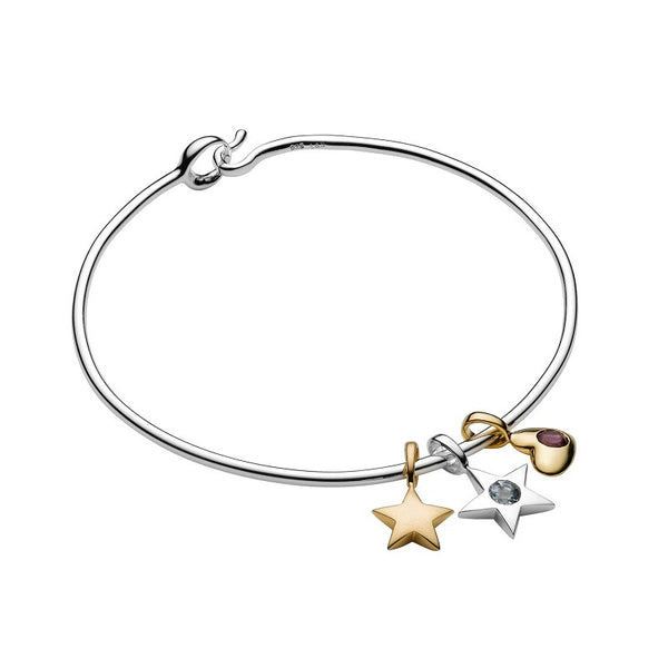 Luna stella crescent moon silver charm bracelet for Luna and stella jewelry