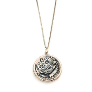 Sterling Lady of the Moon Locket