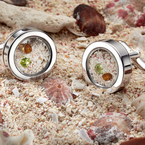 Birthstone Locket Cufflinks