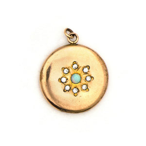 Opal Snowflake Locket
