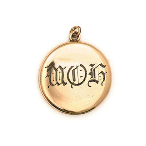Maid of Honor Crescent Moon Locket
