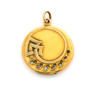 Art Deco Wave Locket