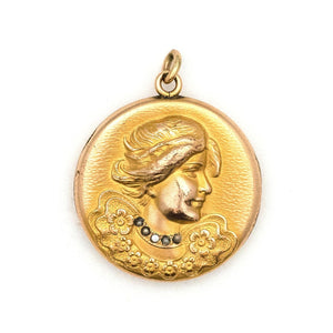 Lady in Profile Locket