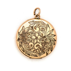 Flowers & Leaves Swirl Locket