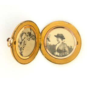 Lucky Horseshoe & Clover Locket