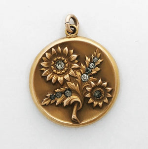 Sunflower Antique Locket