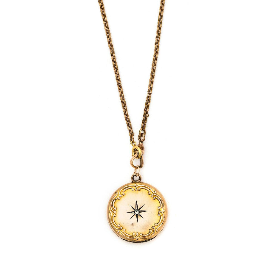 North Star Scroll Locket