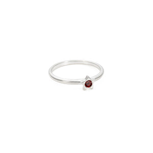 Twinkle Stacking Birthstone Rings - Sterling Silver