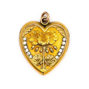 Geranium Heart Locket